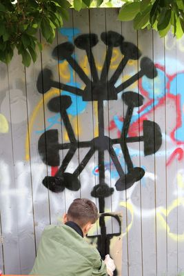West Parkside: Graffitikunst am Neuen Bauhaus